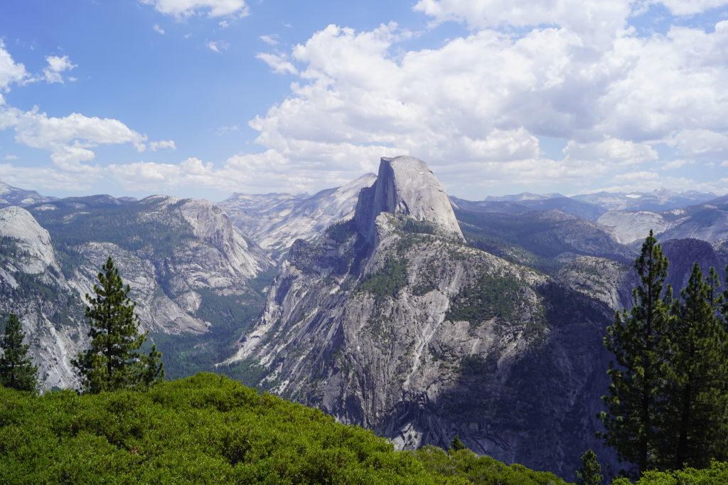 Vista do Glaciar Point - O que fazer no Parque Nacional Yosemite na Califórnia