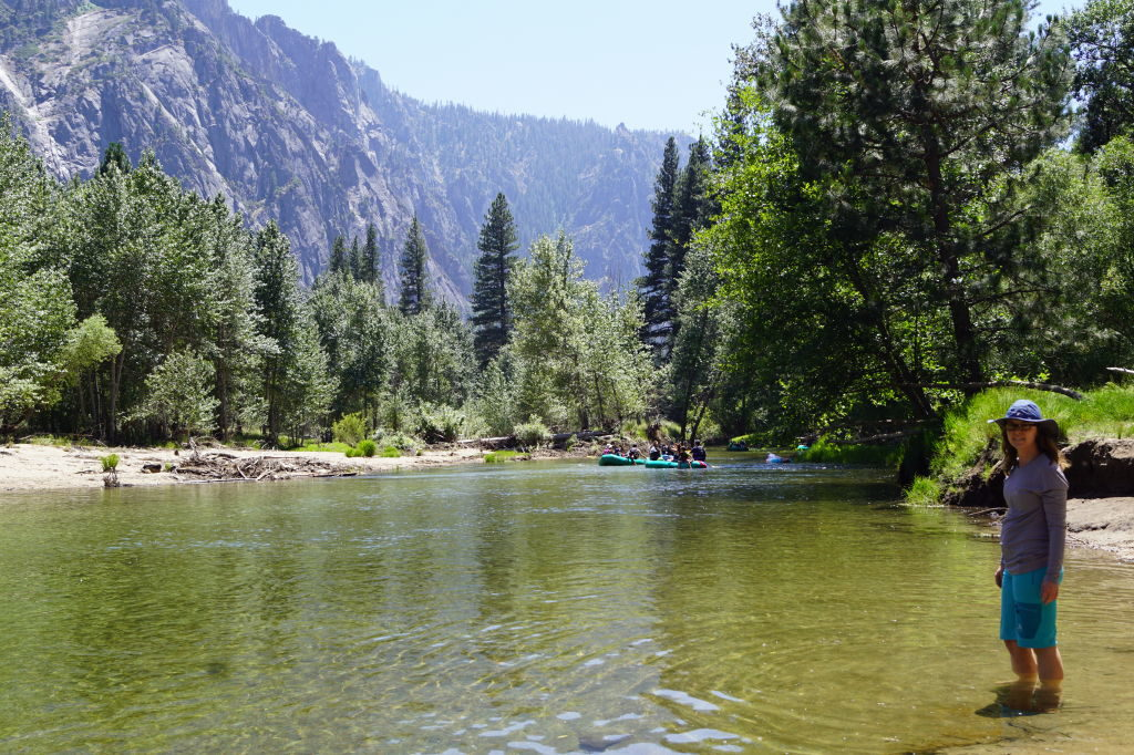 Praia do Rio Merced  - O que fazer no Parque Nacional Yosemite na Califórnia