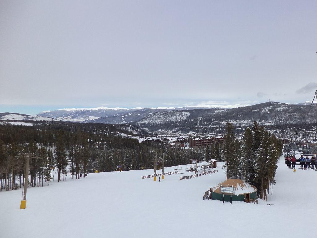 Pistas azuis largas - Ski na Neve? Breckenridge Colorado EUA
