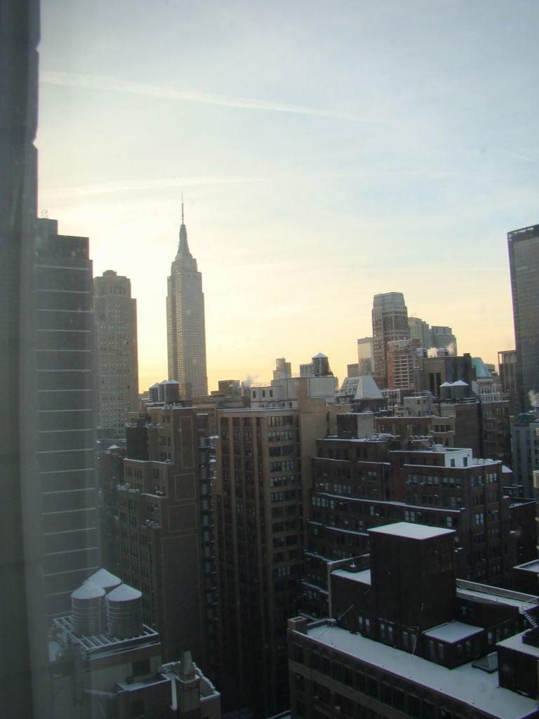 Vista do nosso quarto no Stay Bridge Suites - Parque em Nova York? Central Park!