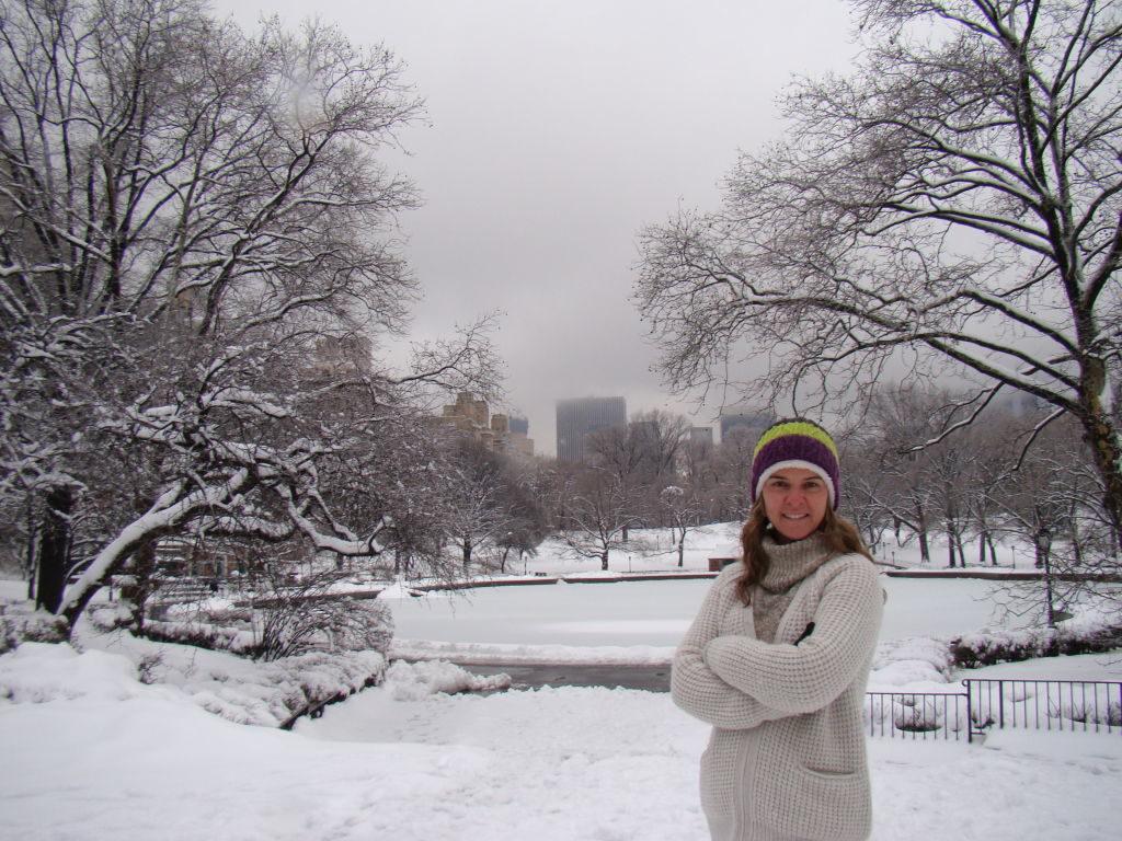 Conservatory Water no Central Park - O que fazer em Nova York no inverno - Com neve!