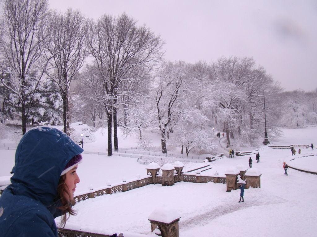Bethesda Fountain em Central Park - O que fazer em Nova York no inverno - Com neve!