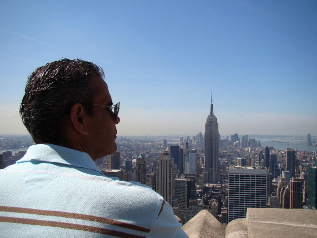 Empire State visto do Top of the Rock - Principais Pontos Turísticos de Nova York