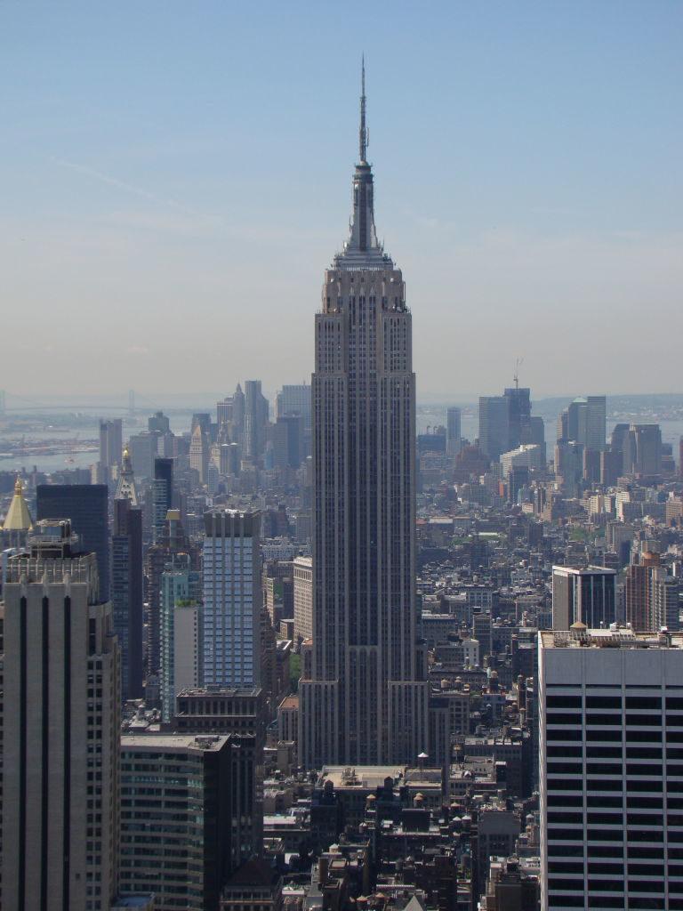 Empire State visto do Top of the Rock