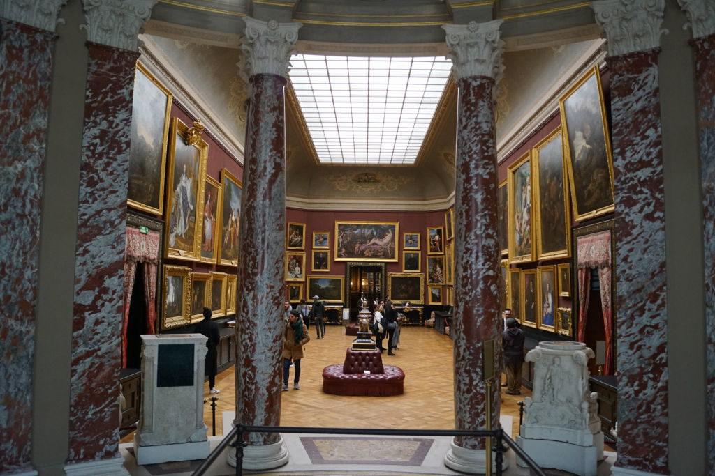 A Galeria de Pinturas vista da Rotunda