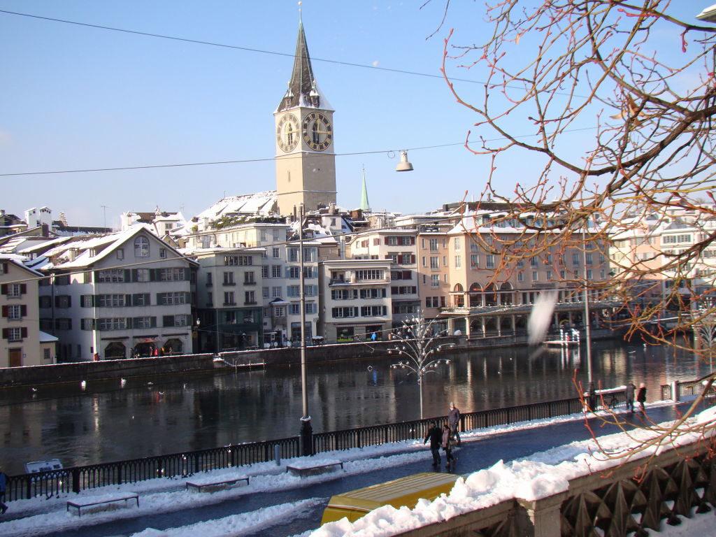 Vista da Grossmünster - O que fazer em Zurique no inverno: Ano Novo e Pontos Turísticos