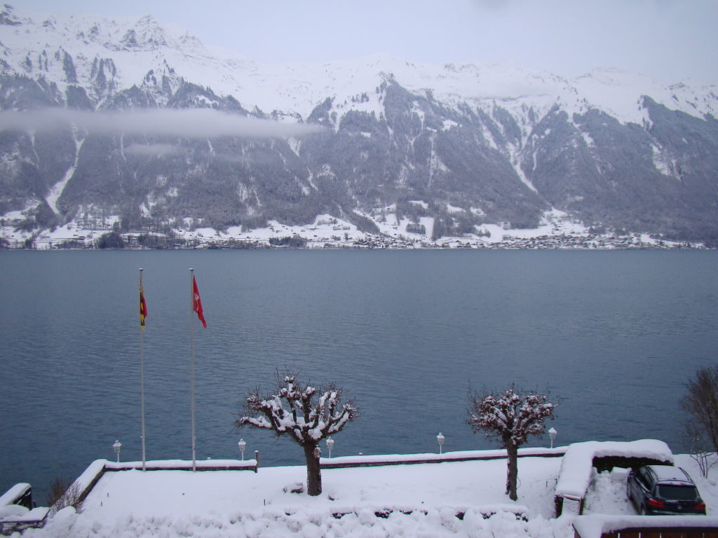 Vista do quarto do Bellevue - Voo duplo de parapente na Suíça