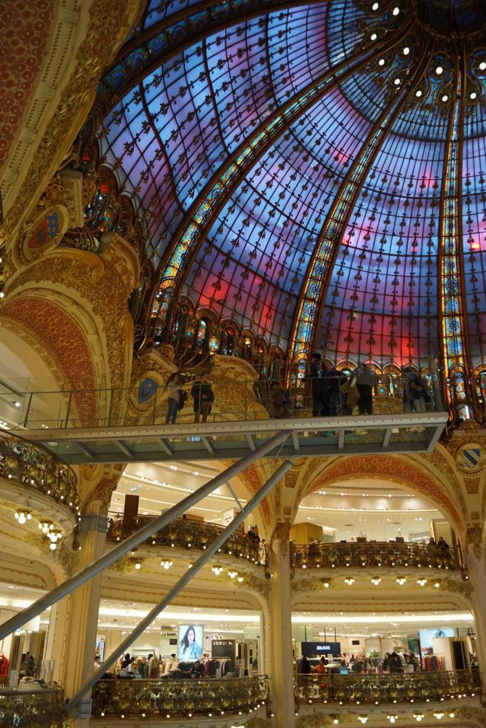 Passarela de vidro Galeries Lafayette